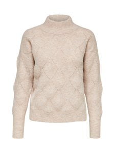 Selected - SlfSif LS Structure Highneck B -neule - CAMEO ROSE | Stockmann