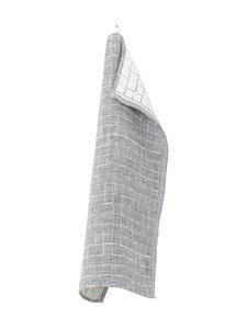 Lapuan Kankurit - Lastu-pellavakeittiöpyyhe 48 x 70 cm - VALKO-HARMAA | Stockmann