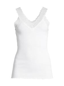 Rosemunde - Organic V-neck Top -paita - 1049 WHITE | Stockmann