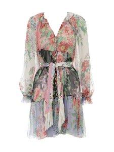 Zimmermann - Bellitude Spliced Short Dress -silkkimekko - SPLICED SPLI | Stockmann