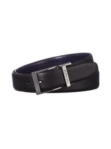 Ted Baker London - Maaple Reversible Woodgrain Leather Belt -nahkavyö - 00 BLACK | Stockmann