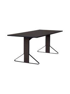 Artek - REB001 Kaari -pöytä, linoleum - BLACK LINOLEUM/BLACK OAK (MUSTA) | Stockmann