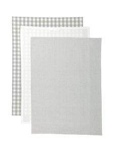 Casa Stockmann - Tavola-keittiöpyyhe 3 kpl - STONE/WHITE | Stockmann