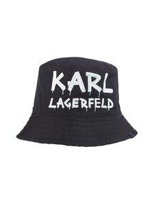 Karl Lagerfeld - Graffiti Aop Bucket Hat -hattu - A998 BLACK/WHITE   Stockmann