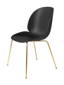 Gubi - Beetle-tuoli - BRASS SEMI MATT BASE, BLACK, PLASTIC GLIDES | Stockmann