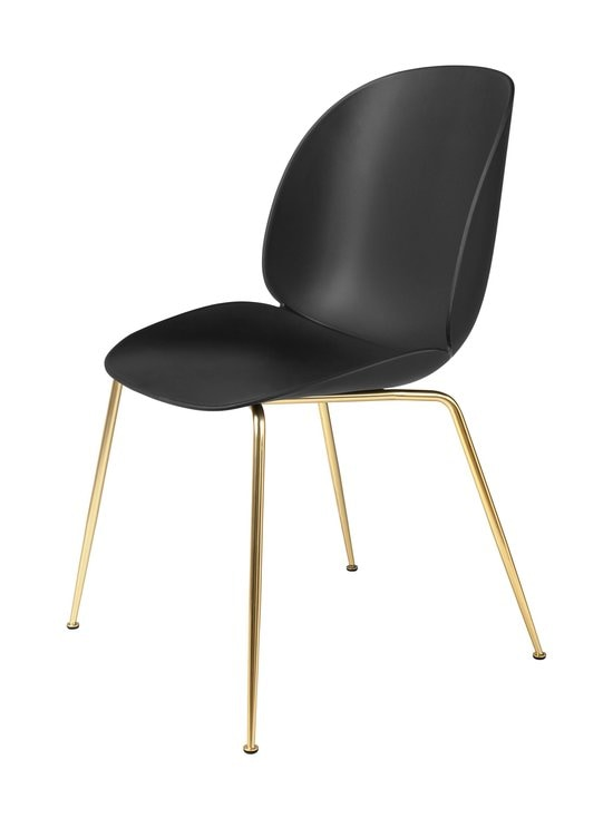 Gubi - Beetle-tuoli - BRASS SEMI MATT BASE, BLACK, PLASTIC GLIDES | Stockmann - photo 1