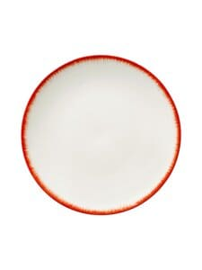 Serax - Dé Tableware by Ann Demeulemeester -lautanen 28 cm - OFF-WHITE/RED | Stockmann