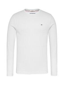 Tommy Jeans - Tjm Original Rib Longsleeve Tee -paita - 100 CLASSIC WHITE   Stockmann