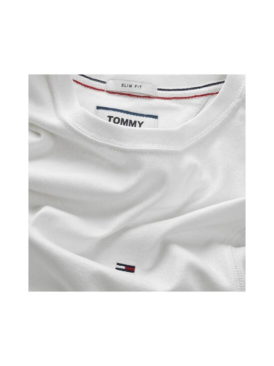 Tommy Jeans - Tjm Original Rib Longsleeve Tee -paita - 100 CLASSIC WHITE   Stockmann - photo 3