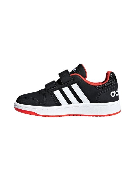 adidas Performance - Hoops 2.0 -kengät - CORE BLACK / CLOUD WHITE / HI-RES RED | Stockmann - photo 4