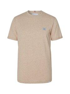 Les Deux - Piece T-Shirt -paita - 811032-LIGHT BROWN MELANGE/DUST BLUE-STONE BROWN | Stockmann