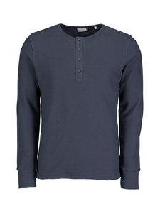 Knowledge Cotton Apparel - Cedar Henley -paita - 1001 TOTAL ECLIPSE   Stockmann