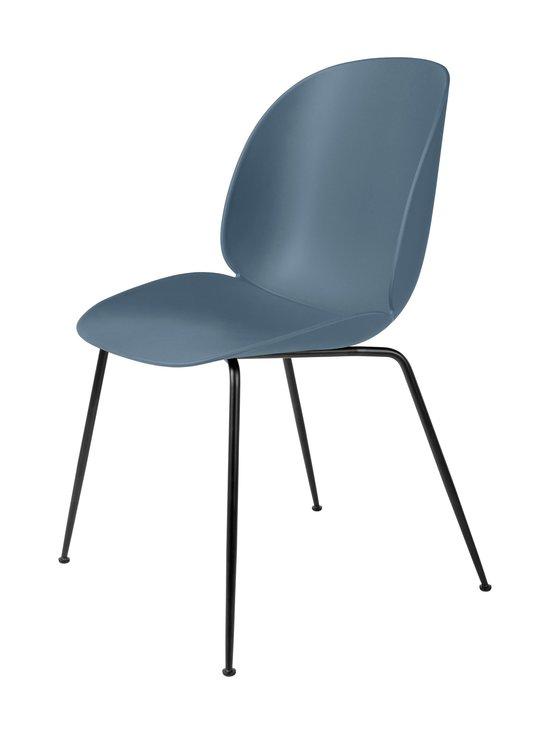 Gubi - Beetle-tuoli - BLACK MATT BASE, SMOKE BLUE, PLASTIC GLIDES | Stockmann - photo 1