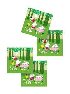 Moomin - Vehreä Kesä -lasinalunen 9 x 9 cm, 4 kpl - MULTICOLOURED | Stockmann