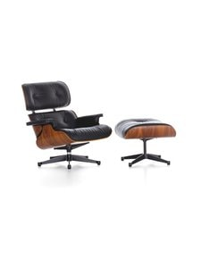 Vitra - Eames Lounge Chair -nojatuoli ja rahi - PALISANDER / PREMIUM LEATHER BLACK | Stockmann
