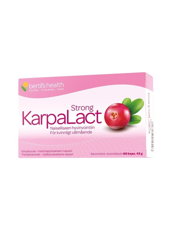 Bertils Health - KarpaLact Strong -ravintolisä 60 tabl./43 g | Stockmann - photo 1