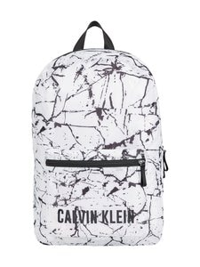 Calvin Klein Performance - Printed Backpack -reppu - 953 WHITE MARBLE PRINT | Stockmann