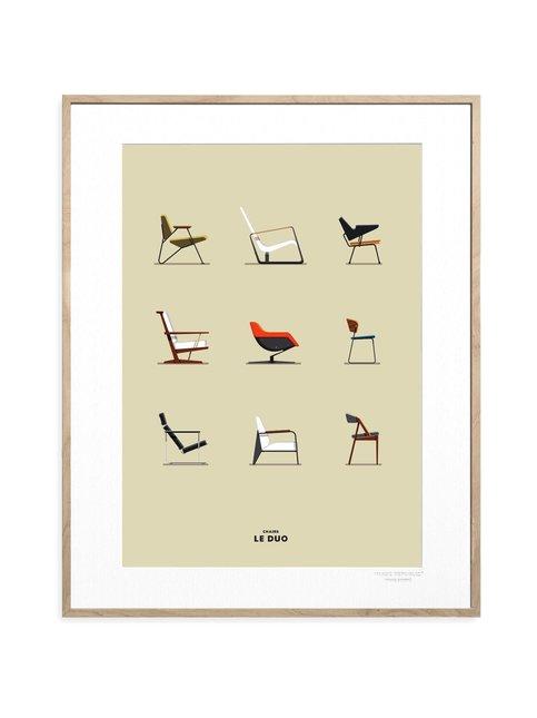 Le Duo Chairs -juliste 40 x 50 cm