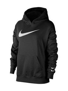 Nike - W Sportswear Swoosh Hoodie -huppari - 010 BLACK/WHITE | Stockmann