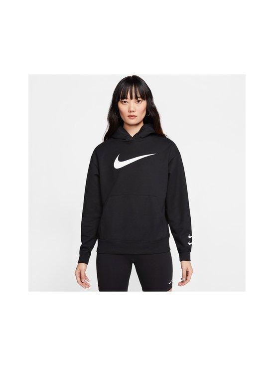 Nike - W Sportswear Swoosh Hoodie -huppari - 010 BLACK/WHITE | Stockmann - photo 3