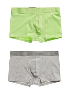 Superdry - Classic Trunk -bokserit 2-pack - 5NG VIVID LIME/LIGHT GREY MARL | Stockmann