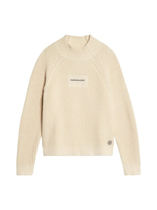 Oco Mock Neck Boxy Sweater -neule