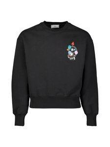 Ami - 9 Embroidered Sweatshirt -collegepaita - NOIR/001 | Stockmann