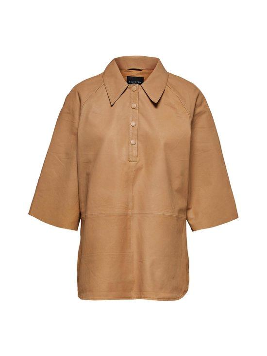 Selected - SlfAnnabella 3/4 Leather Shirt -nahkapusero - TUFFET | Stockmann - photo 1
