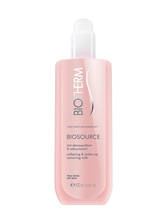Biotherm - Biosource Cleansing Milk -puhdistusmaito 400 ml kuivalle iholle | Stockmann - photo 1