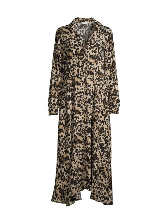 Vila - ViMemis LS Midi Shirt Dress -paitamekko - BLACK AOP:LEO | Stockmann - photo 1