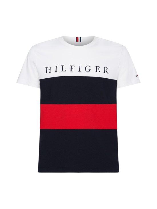 Tommy Hilfiger - Colour-Blocked Organic Cotton T-Shirt -paita - 0A4 WHITE/MULTI | Stockmann - photo 1
