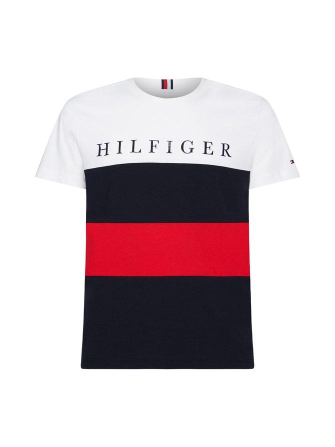Colour-Blocked Organic Cotton T-Shirt -paita