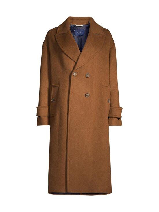 GANT - Wool Blend Cocoon Overcoat -villasekoitetakki - 210 ROASTED WALNUT | Stockmann - photo 1