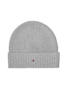Tommy Hilfiger - Pima Cotton Beanie -puuvillapipo - 0IX LIGHT GREY MELANGE | Stockmann