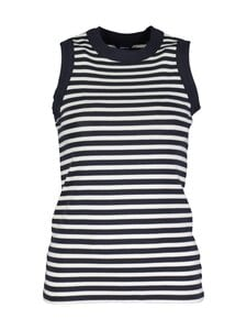 GANT - Striped 1 x 1 Rib Tank Top -pusero - 433 EVENING BLUE | Stockmann