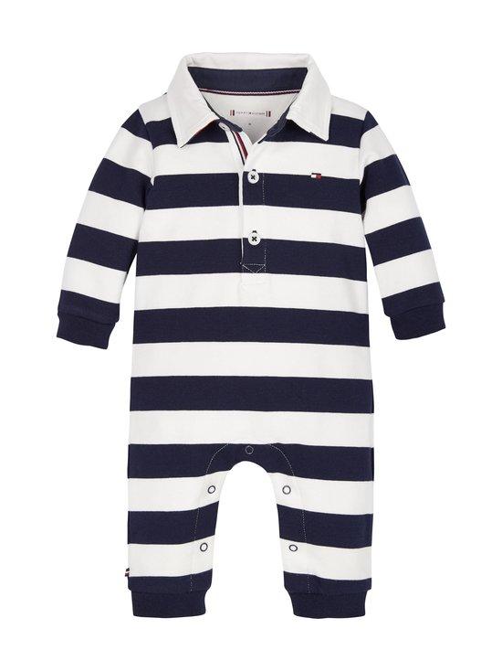Tommy Hilfiger - Baby Rugby Stripe -haalari - 0A4 TWILIGHT NAVY/ WHITE | Stockmann - photo 1