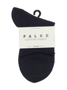 Falke - Cotton Touch -nilkkasukat - DARK NAVY (TUMMANSININEN) | Stockmann