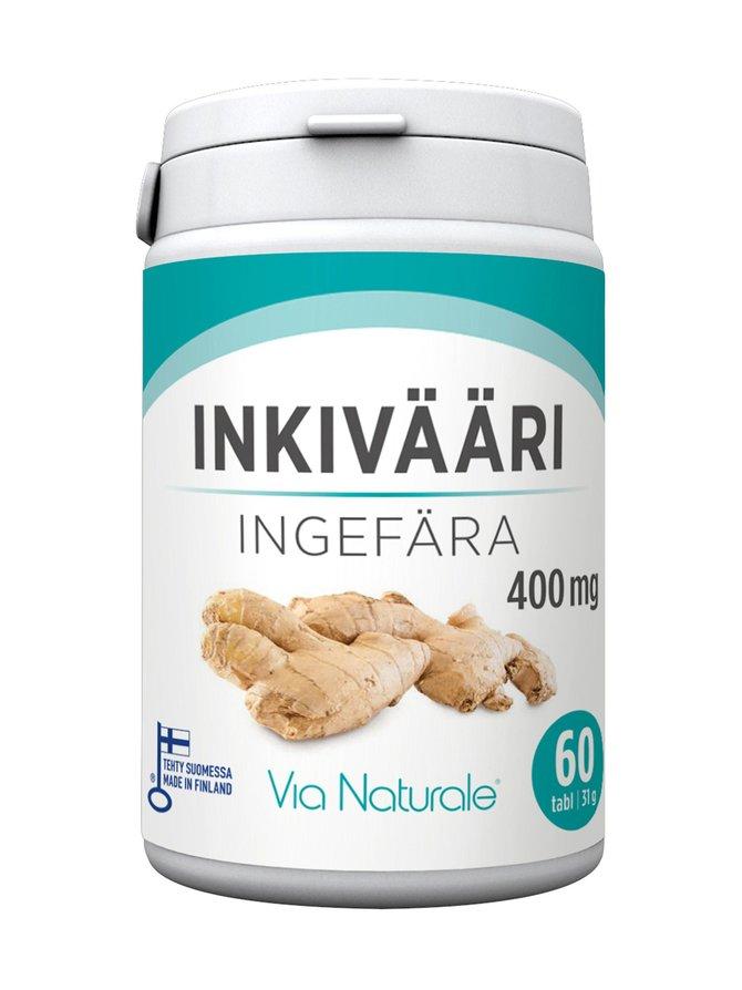 Inkivääri-ravintolisä 60 tabl./31 g