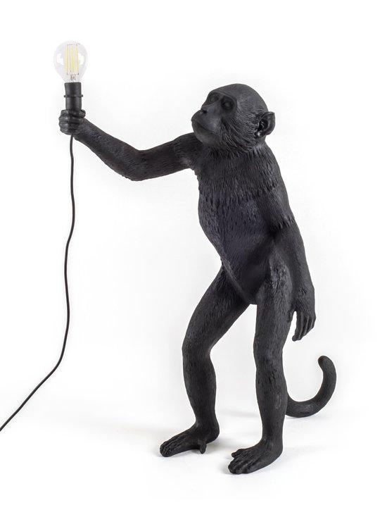 Seletti - Monkey Lamp Standing -pöytävalaisin - MUSTA | Stockmann - photo 1