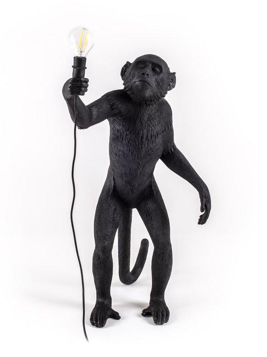 Seletti - Monkey Lamp Standing -pöytävalaisin - MUSTA | Stockmann - photo 4