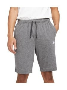 Nike - Sportswear Club Fleece -shortsit - 071 CHARCOAL HEATHR/WHITE | Stockmann
