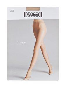 Wolford - Pure 10 den -sukkahousut - FAIRLY LIGHT (VAALEANRUSKEA)   Stockmann