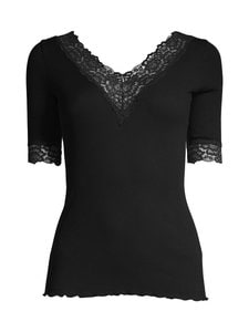 Rosemunde - Organic V-Neck T-Shirt -paita - 010 BLACK | Stockmann
