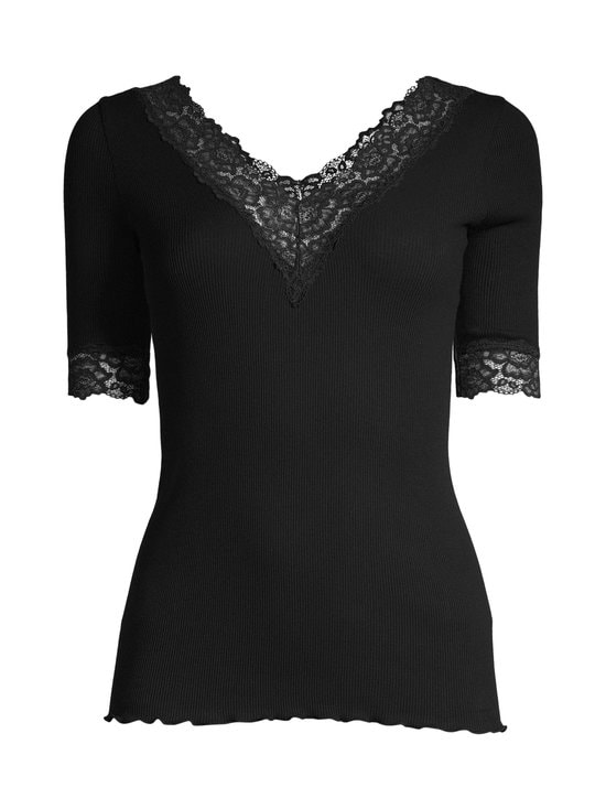 Rosemunde - Organic V-Neck T-Shirt -paita - 010 BLACK | Stockmann - photo 1