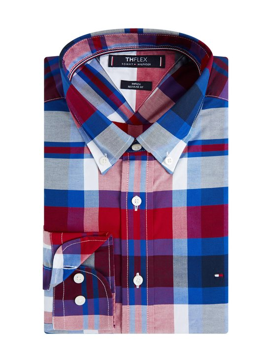 Tommy Hilfiger - TH Flex Multicolour Check Shirt -kauluspaita - 0QJ PRIMARY RED / PHTHALO BLUE / MULTI | Stockmann - photo 2