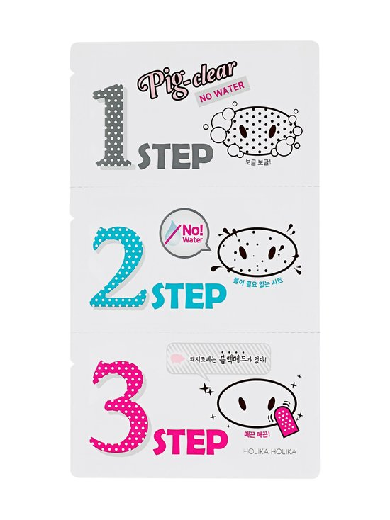 Holika Holika - Pig Clear Blackhead 3-Step Kit (No Water) -mustapäälaastari - NOCOL | Stockmann - photo 1