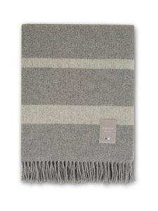 Lexington - Hotel Wool Throw -villahuopa 130 x 170 cm - GRAY MELANGE/WHITE   Stockmann