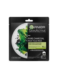 Garnier - Skin Active Black Tissue Pure Charcoal Black Algae -kasvonaamio 32 g - null | Stockmann