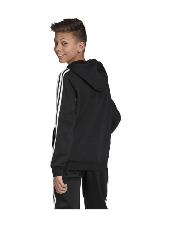 adidas Performance - Essentials 3 Stripes Hoodie -huppari - BLACK/WHITE | Stockmann - photo 5