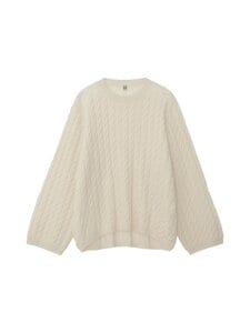 Totême - CABLE KNIT -kashmirneule - OFF-WHITE | Stockmann